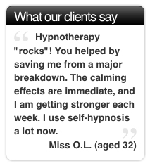 Calming effects of hypnosis